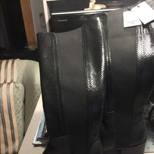 Zara tall boots genuine leather